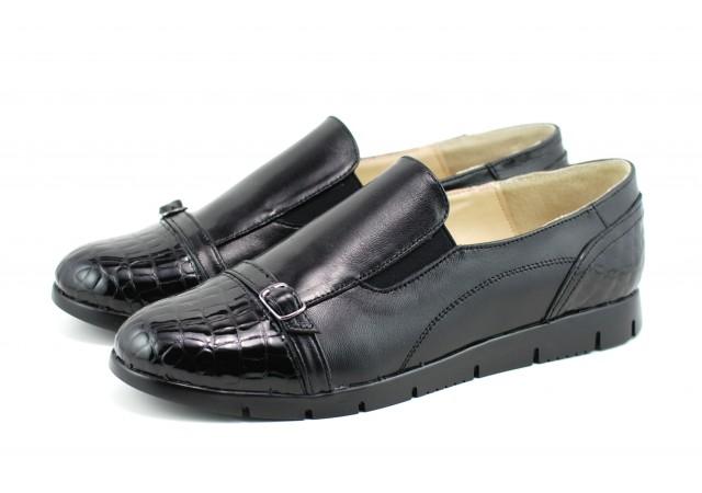 Pantofi dama casual din piele naturala, foarte comozi - P103CROCON