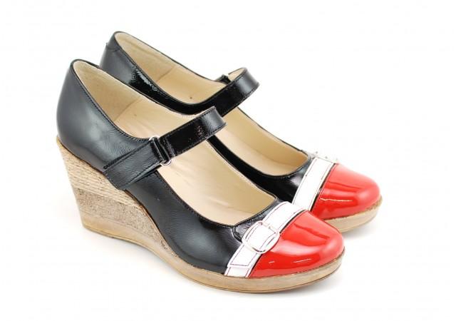 Pantofi dama casual din piele naturala, cu platforme, foarte comozi - PTEARAN2