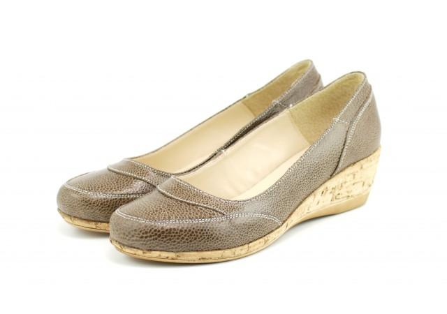 Pantofi dama casual din piele naturala, cu platforme - ROVI37CF