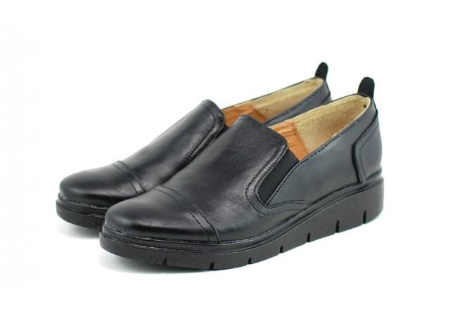 Pantofi dama casual din piele naturala, cu platforme - ROVI38N