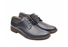 Pantofi barbati bleumarin, casual - eleganti din piele naturala 75BOND