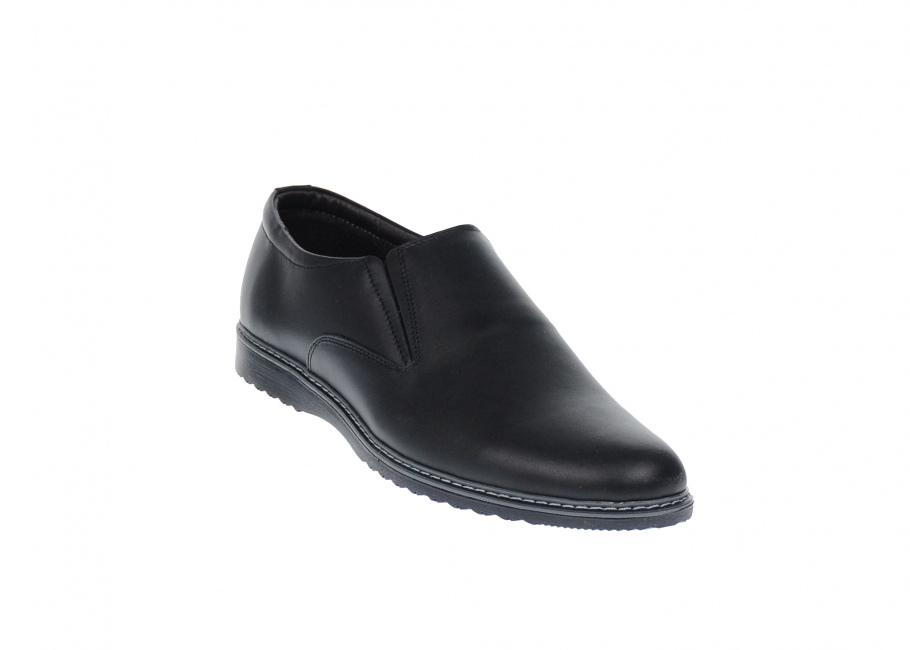 Pantofi barbati casual, din piele naturala cu talpa sport si elastic - TENMARIONEL