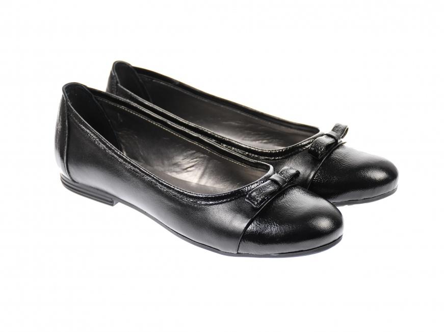 Oferta marimea 39, 40 - Balerini dama negri, model casual/elegant din piele naturala 100% - Made in Romania LFLONLAC