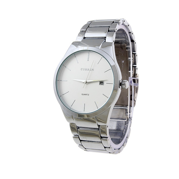 Ceas de mana barbati elegant Curren Silver M8106SLA