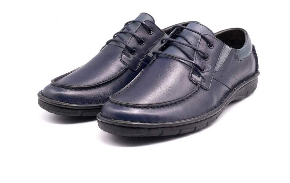 Pantofi Casual Barbati din piele cu siret VIC2050