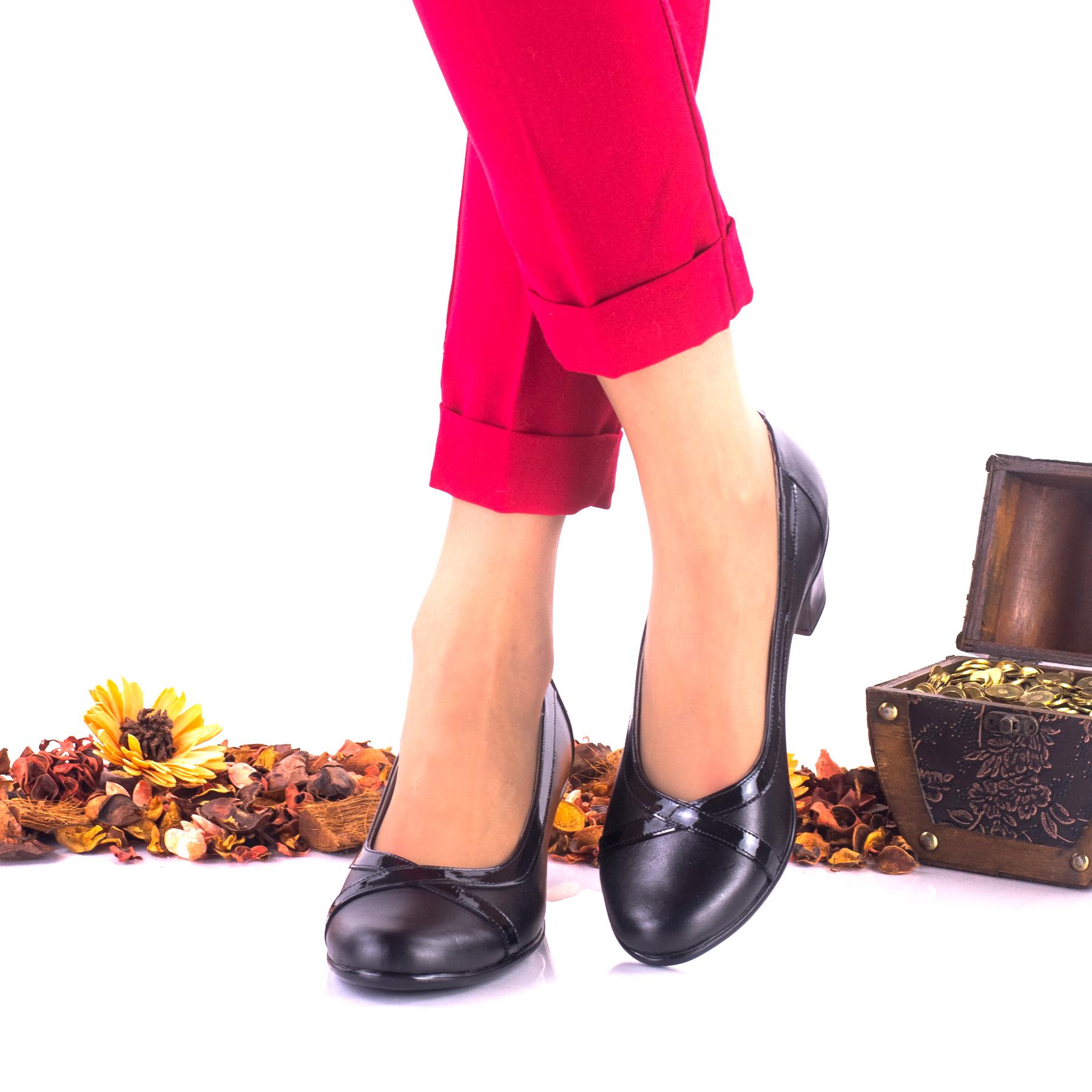 Lichidare marimea 38 Pantofi dama casual din piele naturala toc 5cm - LNA113NPL