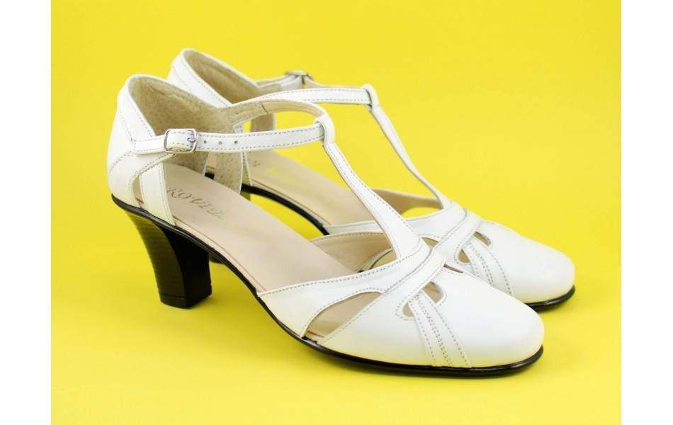 Lichidare marimea 37 Sandale negre dama din piele naturala cu toc de 7cm - LS48A