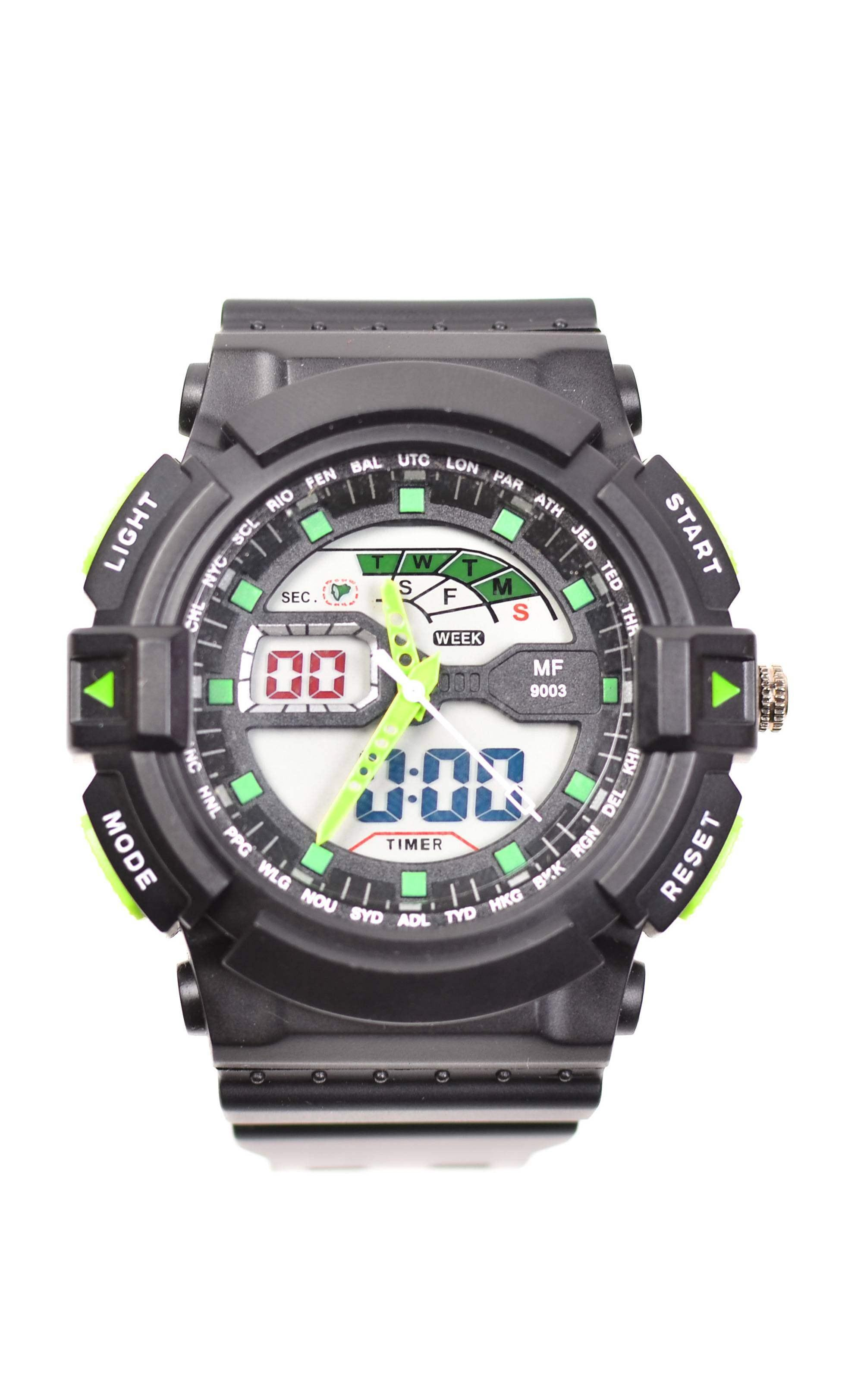 Ceas de mana barbati sport, cu sistem Dual Time - MF9003TV