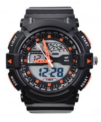 Ceas de mana barbati sport, cu sistem Dual Time - MF9003T
