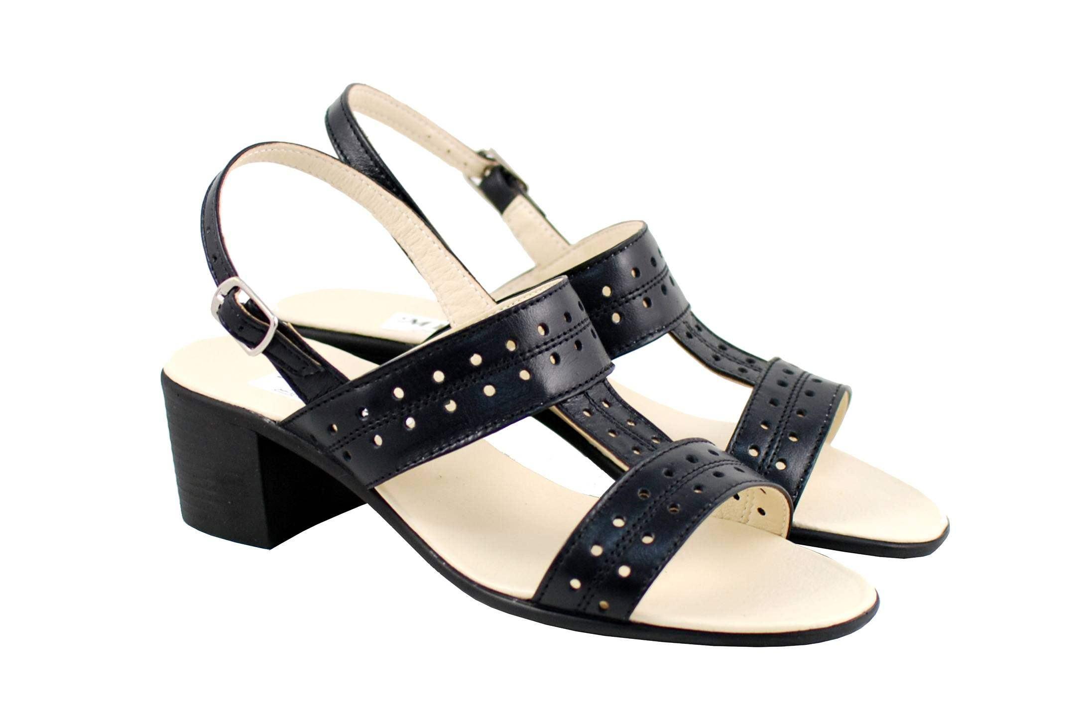 Lichidare marimea 36 Sandale dama din piele naturala, negru box - LS7NBOX