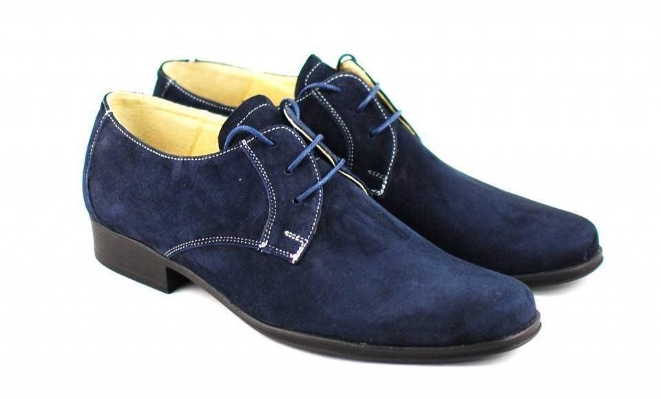 Pantofi barbati casual din piele naturala bleumarin - Made in Romania P34BL