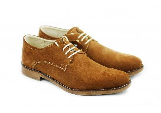 Pantofi rosii barbati casual - eleganti din piele naturala intoarsa - CARLO MD
