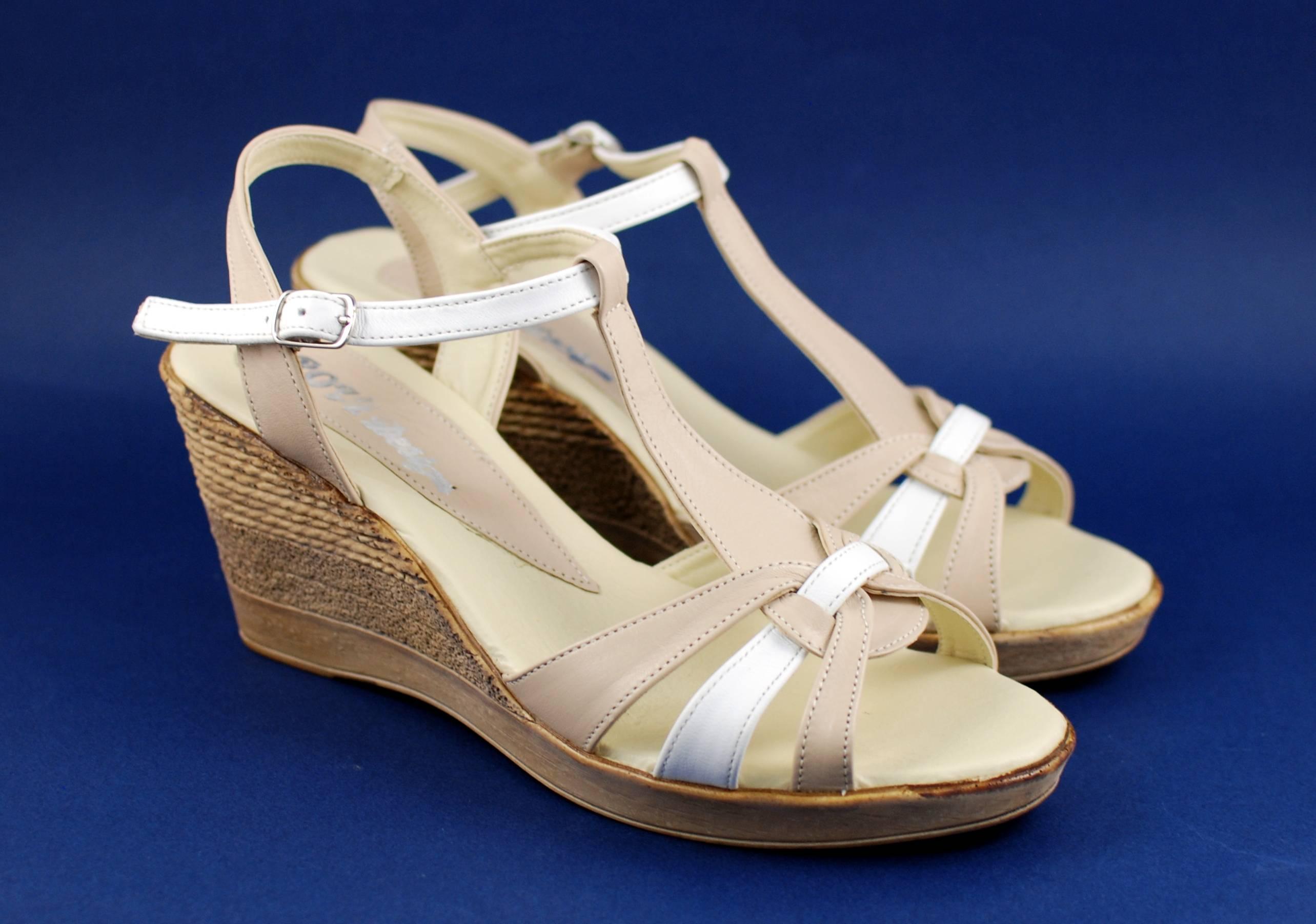 Sandale dama din piele naturala, cu platforma - cod S51BA