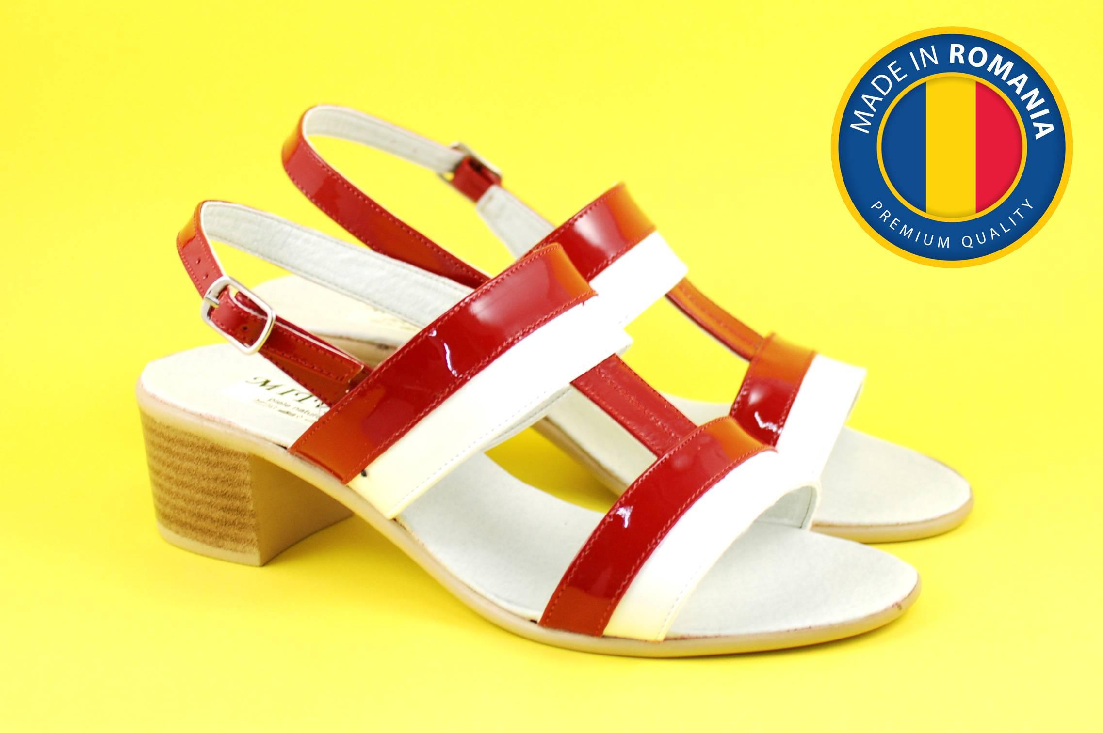Sandale dama din piele naturala cu toc de 5cm - S7LACAR