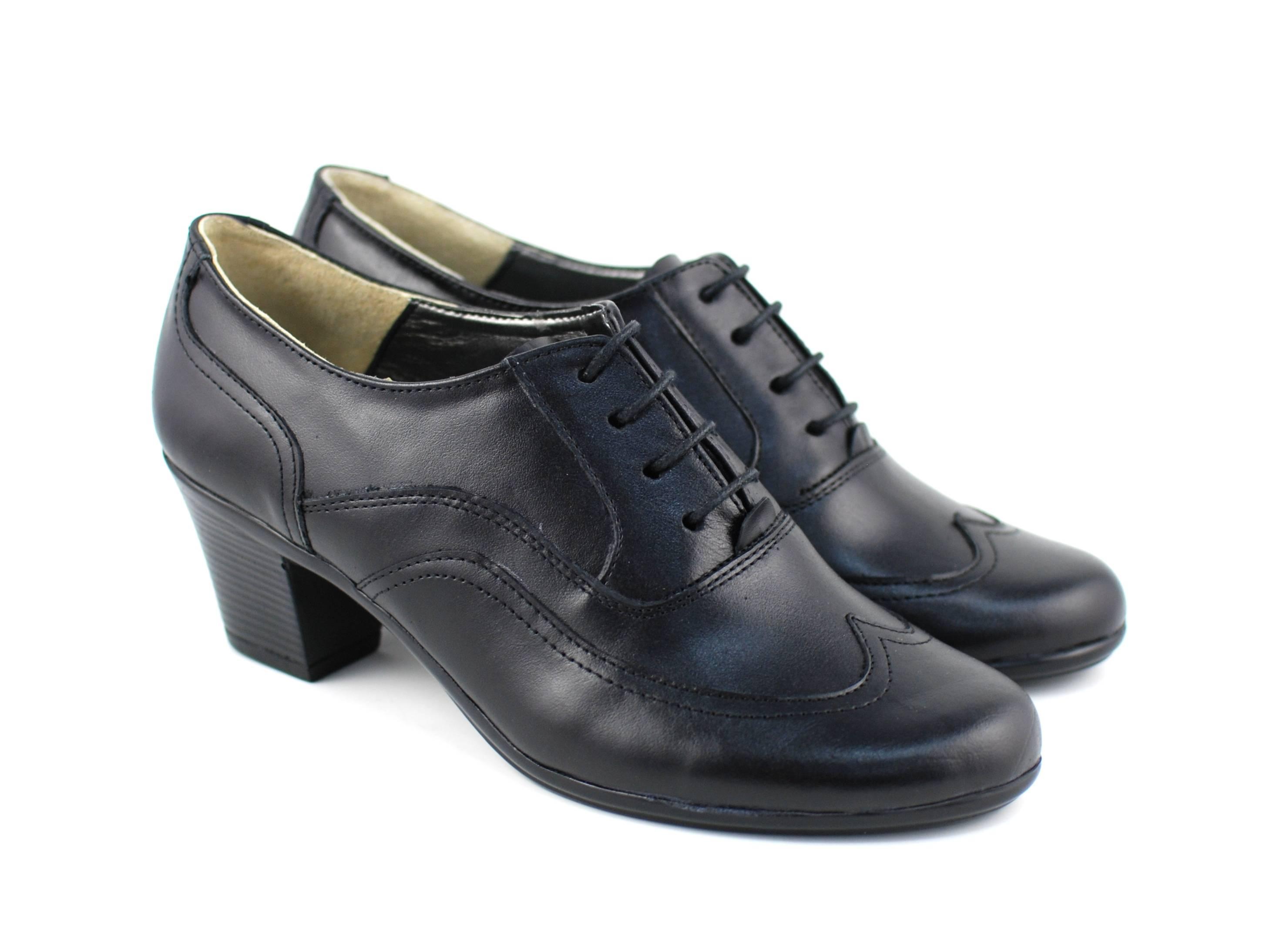 Pantofi dama din piele naturala box - P11NBOX