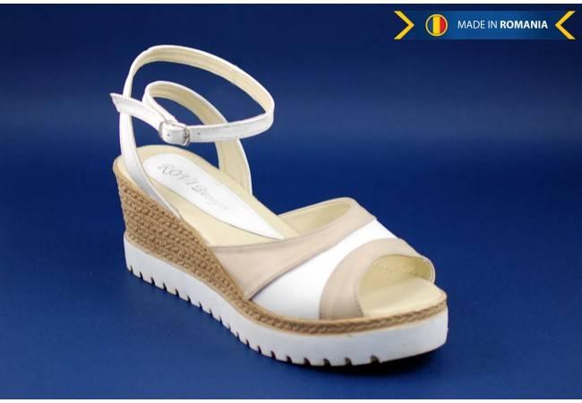 Sandale dama din piele naturala cu platforma 7 cm - cod S106AB