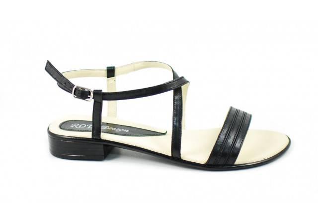 Sandale dama din piele naturala cu platforma joasa - cod SCORAN
