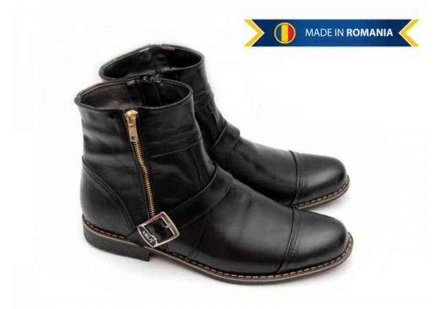 Ghete barbati casual din piele naturala - Made in Romania GJONN