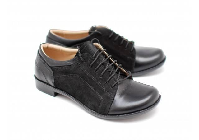 Pantofi dama casual din piele naturala-Made in Romania PHNEGRUBOXVELUR