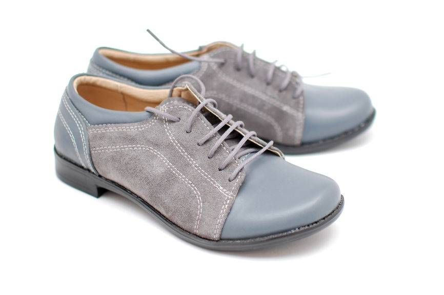 Pantofi dama casual din piele naturala-Made in Romania PH41GRIBOXVELUR