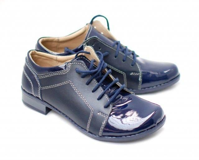 Pantofi dama piele naturala, casual bleumarin - Made in Romania DAMABOXLACB