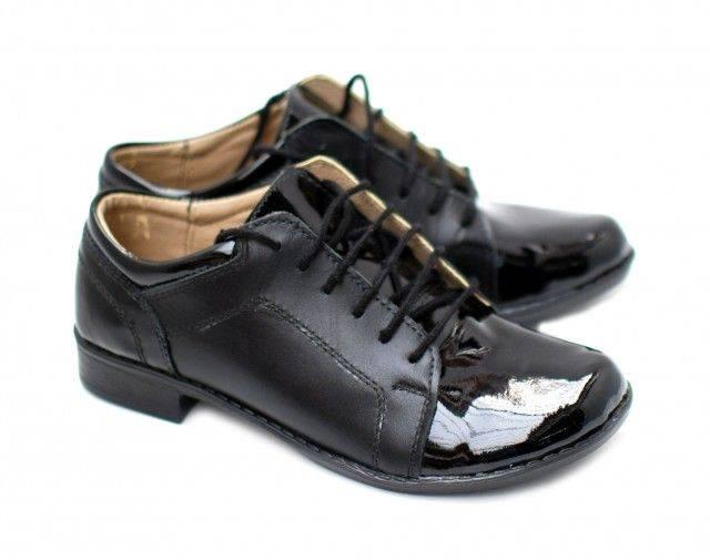 Pantofi dama piele naturala, casual Negri cu LAC - Made in Romania DAMABOXLACN