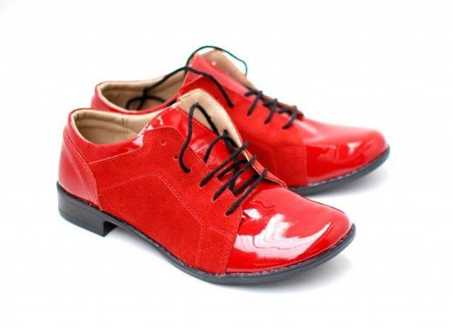 Pantofi dama piele naturala, casual Rosu - Made in Romania DAMALACPINTR
