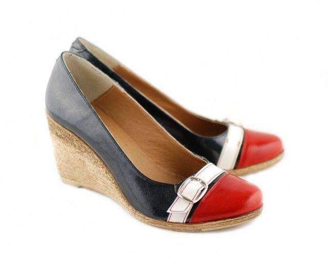 Pantofi dama piele naturala cu platforma, casual - Made in Romania PTEARAN
