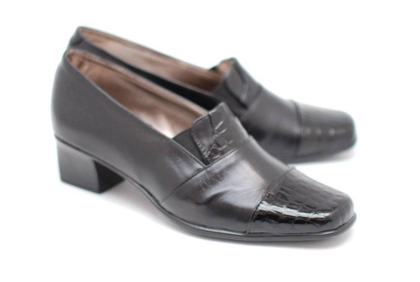 Pantofi dama piele naturala - eleganti -casual - Made in Romania PHP3NEGRULACBOX