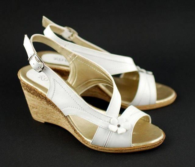 Lichidare marimea 38, 39 Sandale dama cu platforma din piele naturala LS53A
