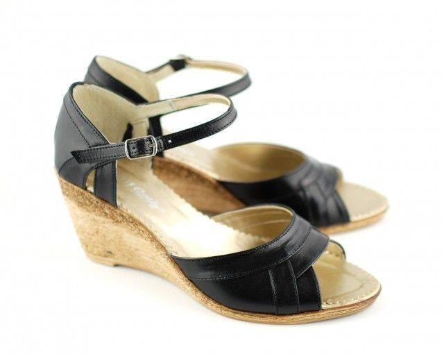 Sandale dama cu platforma din piele naturala S54N