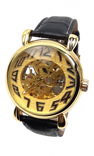 Ceas barbati mecanic, automatic, business - elegant GOER GO2252GOLD