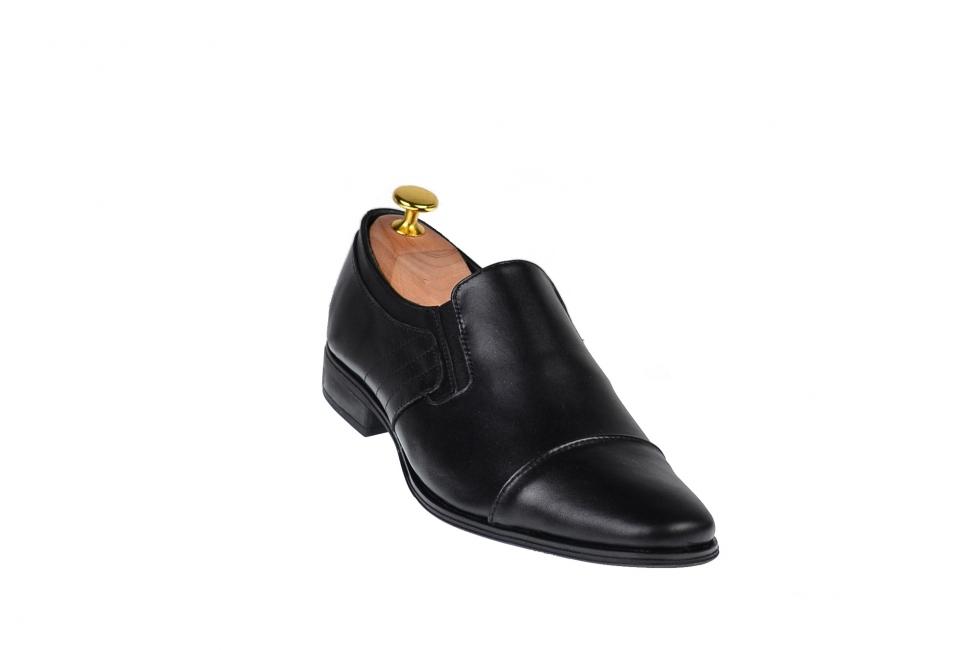 Oferta marimea 38, 39, 40, 41, 42, 44 - Pantofi barbati, eleganti, din piele naturala, cu elastic - LCIOCSTEFEN