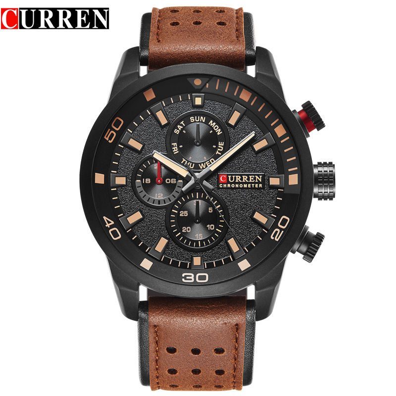 Ceas de mana barbati casual - Curren M8250M BROWN